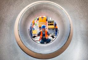 Bemannter Rohrvortrieb der Wasserwerke Leipzig