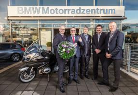 BMW Motorradübergabe